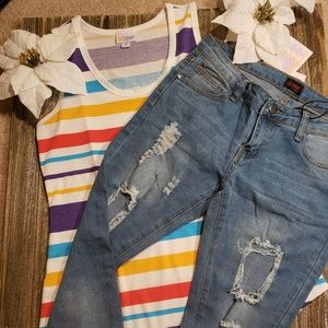 BNWT jean and tank top outfit@